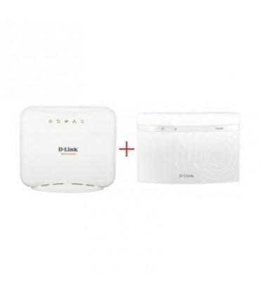 D-Link Dir-600 Router Wireless + D-Link DSL-2520U Modem Router