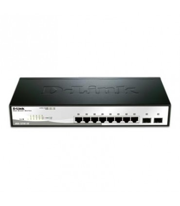 DGS-1210-10 8 Port 10/100/1000Base-T ports + 2 SFP ports Web Smart Switch
