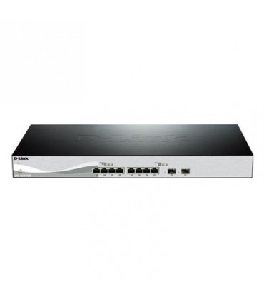 DXS-1210-10TS 10G Smart Switch with 8-port 10GBASE-T and 2-port 10GBASE-T/SFP+ combo port