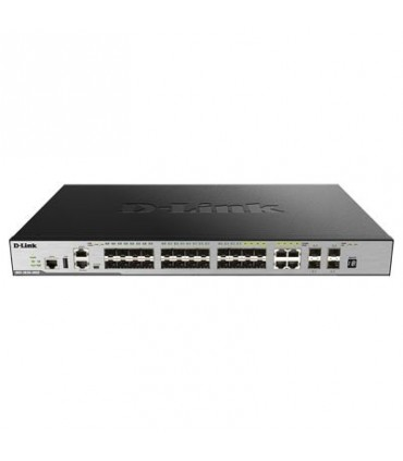 DGS-3630-28SC 20 SFP ports + 4 Combo 10/100/1000Base-T/SFP ports + 4 10GE SFP+ Ports L2 Stackable Managed Switch