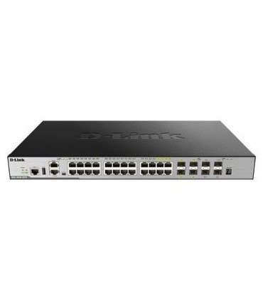 DGS-3630-28TC 20 10/100/1000Base-T ports + 4 Combo 10/100/1000Base-T/SFP ports + 4 10GE SFP+ ports L2 Stackable Managed Switch