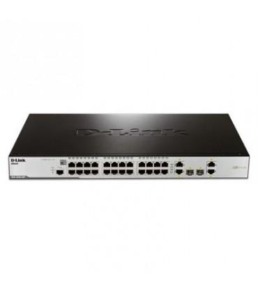 DES-3200-28P 24-port 10/100Base-T PoE + 2 1000Base-T ports + 2 Combo 1000Base-T/SFP ports L2 Managed Switch