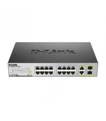 D-Link DES-1018P 18-Port Fast Ethernet PoE Unmanaged Desktop Switch