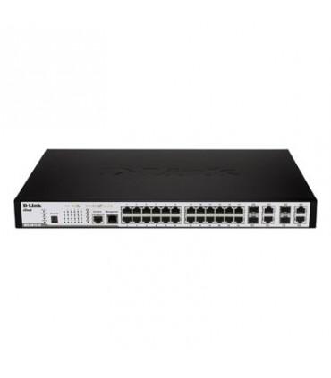 DES-3810-28 24-port 10/100Base-T + 4 Combo 1000Base-T/SFP ports L3 Managed Switch