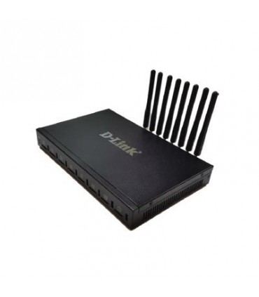 DVG-6008G VoIP Gateway with built-in 8 GSM ports, 2 * 10/100Mbps LAN ports