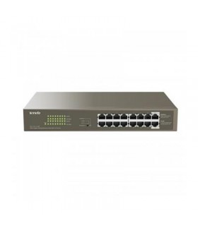 Tenda TEG1116P 16-Port Gigabit PoE Unmanaged Rackmount-Desktop Switch