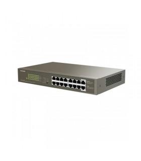 Tenda TEG1116P 16-Port Gigabit PoE Unmanaged Rackmount-Desktop Switch
