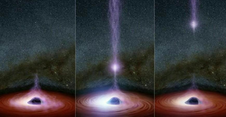 خروج شی درخشان از سیاهچاله برای اولین بار توسط ستاره شناسان رصد شد